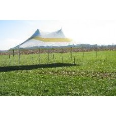 20' x 30' White & Yellow Staked Tent