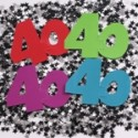 """40"" Birthday Mix Confetti"