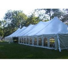 40' x 120' White Staked Tent