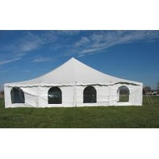 40' x 40' White Staked Tent