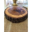 Varnished Log Centerpieces