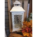 Rustic Ivory Lantern with Scroll