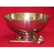 Silver Ornate Punch Bowl