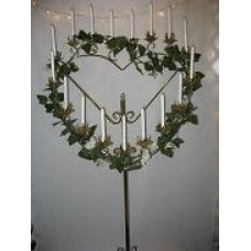 Brass Single Heart Candelabra