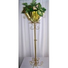 Brass Plant Stand - Accordion