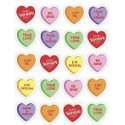 Valentine's Day Candy Heart Stickers