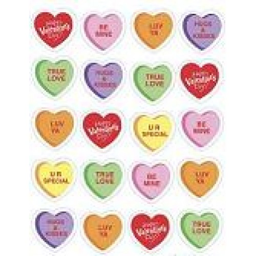 Valentine S Day Candy Heart Stickers