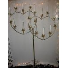 Brass Double Heart Candelabra