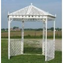 White Lattice Gazebo