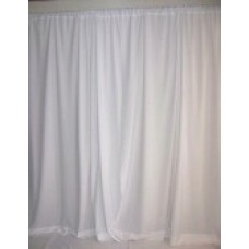 Pipe & White Backdrop Drape