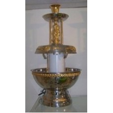 Silver & Gold Ornate Lighted Fountain
