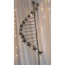 Silver 15 Light Spiral Candelabra