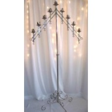 Silver 9 Light Candelabra