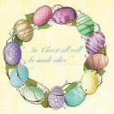 Springtime Wreath Luncheon Napkin