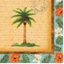 Tropical Palm Luncheon Napkin
