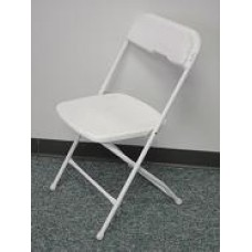 Poly Folding Chair - White