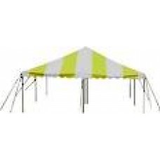 15' x 15' Yellow & White Staked Tent